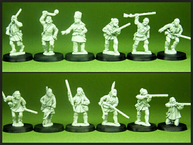 Delaware Warriors Conquest Miniatures
