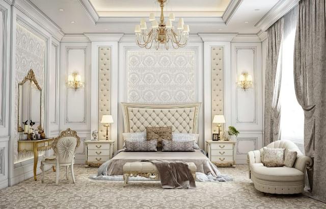 Phòng ngủ tân cổ điển kiểu châu Âu ghi điểm ấn tượng với độ đồ số, bề thế của mình