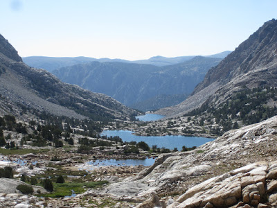 A spectacular view down from the pass...  ©http://backpackthesierra.com