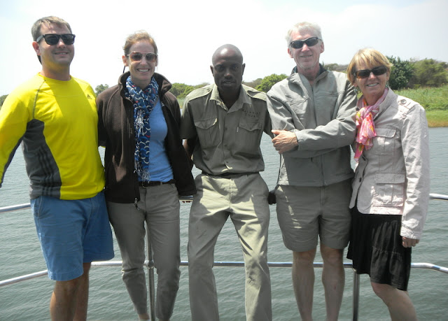 With our guide Roi on the Chobe