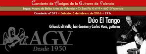 Concierto de Dúo El Tango, en Amigos de la Guitarra de Valencia