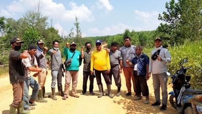 Tim Pemekaran Desa Siabu Bersama Tim Kabupaten, Survei Batas Wilayah Dengan Desa Ridan Permai