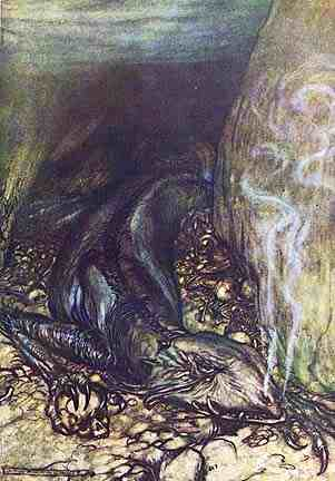 Fafner In His Lair, Asatru Gods And Heroes