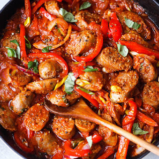Italian Sausage and Peppers Skillet.