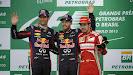 2013 Brazilian podium: 1. Vettel 2. Webber 3. Alonso