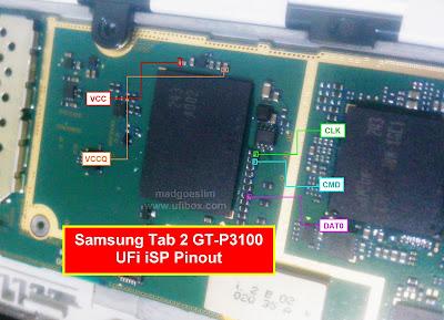 ISP PinOut Samsung GT-P3100