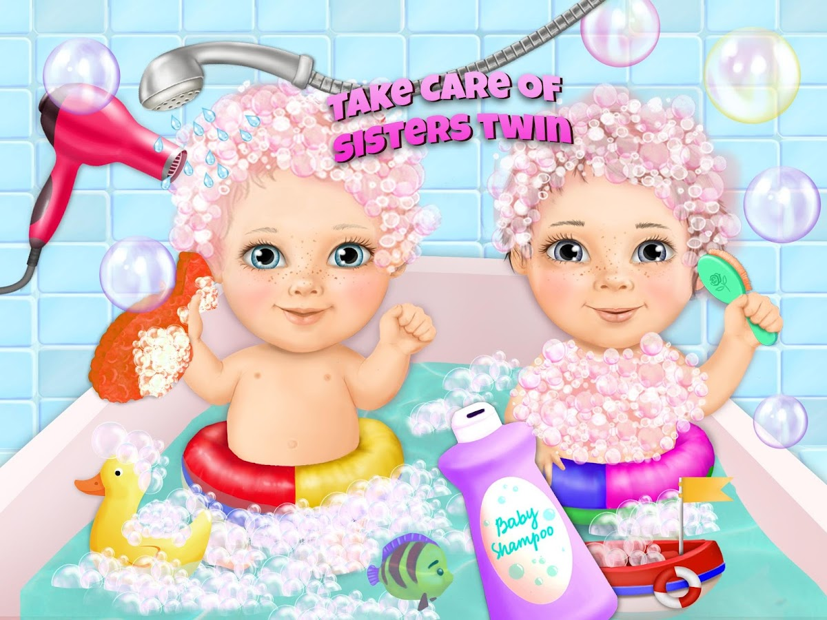 Sweet Baby Girl Twin Sisters- screenshot
