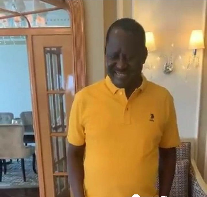 Raila Odinga back into the country to restart reggage, Photos