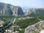 Cetinamündung bei Omis, Kroatien, Bild grösser  klick hier