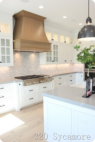 wood kitchen range hood