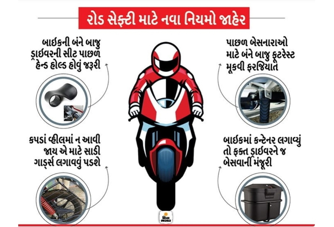 Road Safety new rules declared for two wheelers