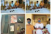 Tim Opsnal Satbrimob Polda NTB Tangkap Tangan Tiga Pemuda Pembawa Sabu