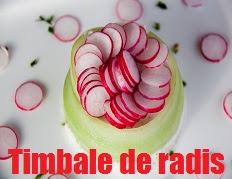 recette de Timbale de radis et concombre