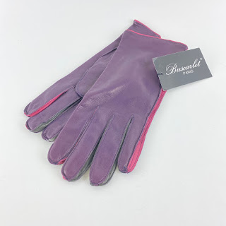 Buscarlet Paris NEW Purple Gloves