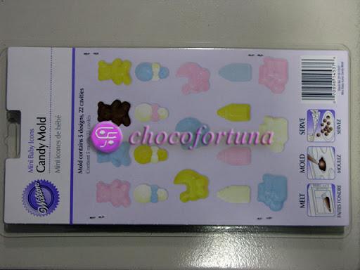 Cetakan Coklat Bayi Stroller Botol Mini Baby Icon