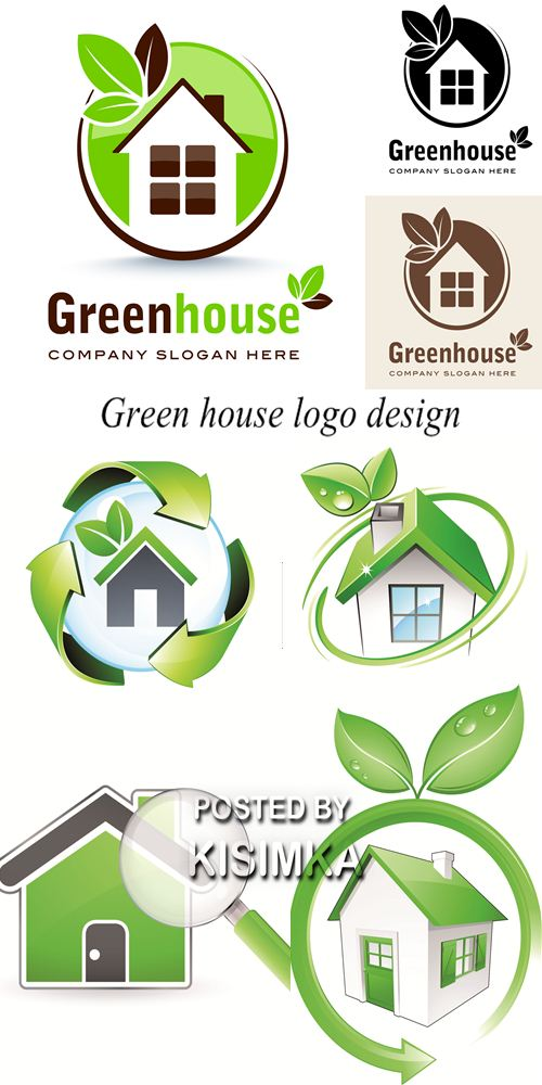Stock: Green house logo design