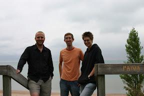 Joe, Lana, and I at Lake Huron