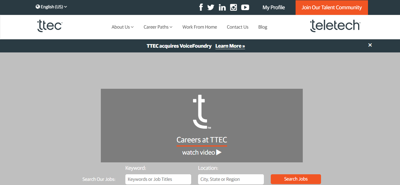 TTEC Work From Home