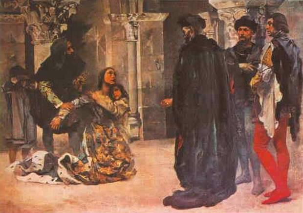 Em 7 de janeiro de 1355, Inês de Castro é degolada a mando do rei.