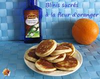 Blinis sucrés à la fleur d'oranger - recette indexée dans les Divers