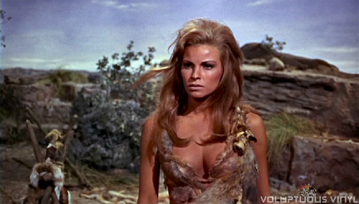 Raquel Welch showing major cleavage in One Million Years BC