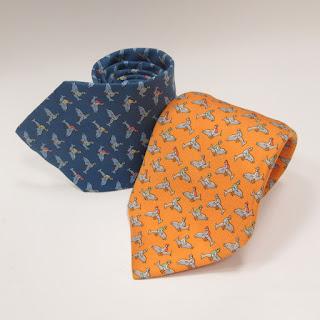 Hermès Dolphin Jockey Tie Pair
