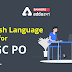 English Language Quiz for ECGC PO 2021- 11th January