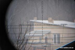 Прицельная марка, Hawke Sidewinder 30 Tactical 10x42, параллакс на максимум, дистанция приблизительно 500м