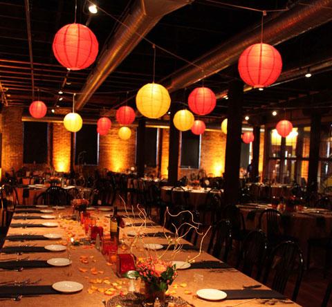 Festa sabor decora o decorando com lanternas chinesas - Decoration salle de fete anniversaire ...