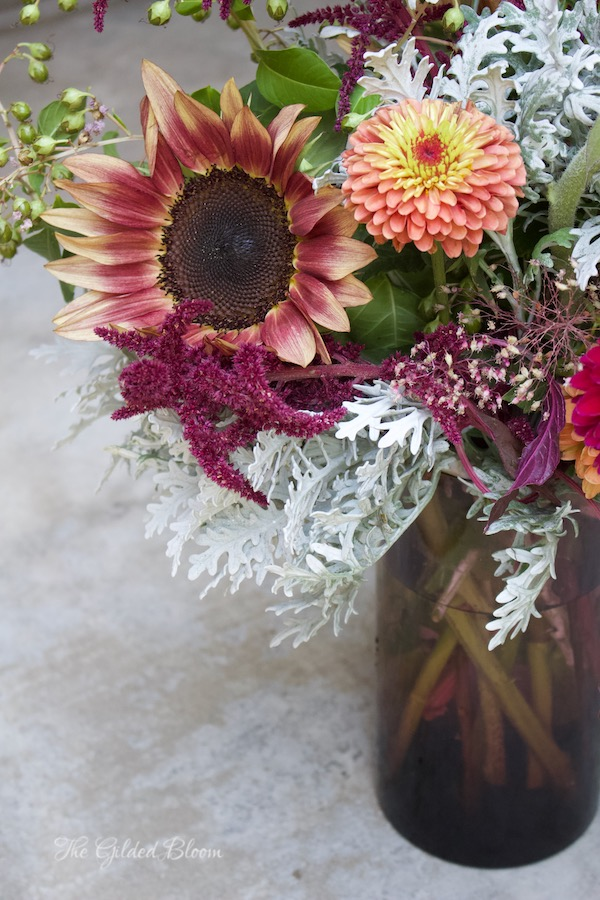 Autumn Berry and Burgundy Bouquet- www.gildedbloom.com