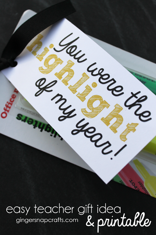 easy teacher gift idea & printable at GingerSnapCrafts.com