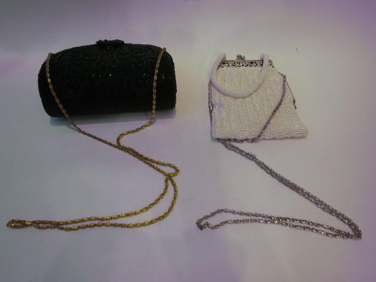Vintage Beaded Evening Bag Pair