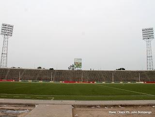 Terrain du stade Tata Raphaël (ex-stade du 20 mai). Radio Okapi/ Ph. John Bompengo