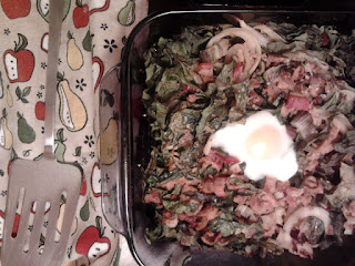 Vegetarian Bacon and Egg Baked Chard 2
