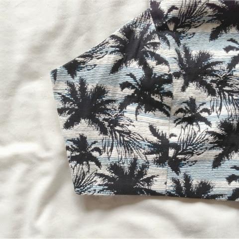 Sammi Jackson - Topshop Palm Print Crop Top