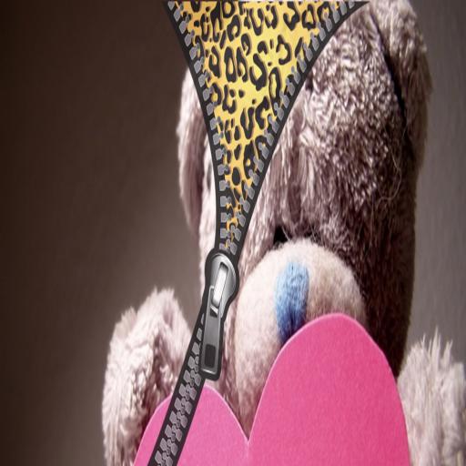 Bear teddy zipper lock screen