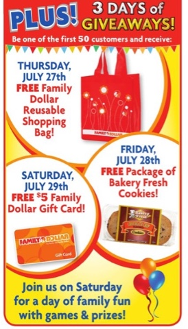 Janie Girl: Family Dollar Grand Opening in Phoenix 7/29