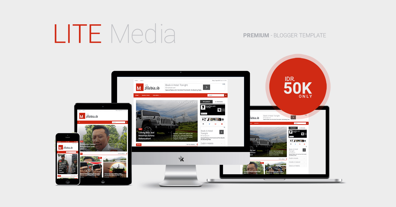 Lite Media - Premium Blogger Template