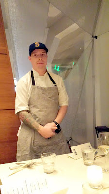 Chefs Week PDX 2/7/16 West Coast 2016 Dinner - Brian McCracken and Dana Tough present Smoked Sturgeon Rilette, Black Garlic Cracker, Kaffir Lime Leaf Crema, Caviar