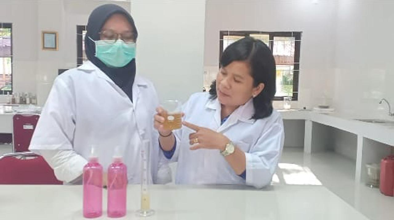 Cegah Inveksi Virus,BBPP Batangkaluku Berinovasi Ciptakan Hand Sanitizer Berbahan Herbal