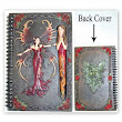 Blank Book Of Shadows Red Fairy