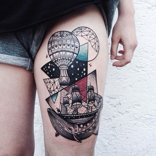 este_artstica_balo_de_ar_quente_tatuagem