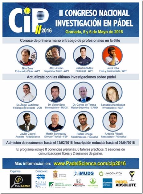 Granada acogerá en Mayo el II Congreso Nacional de Investigación en Pádel.