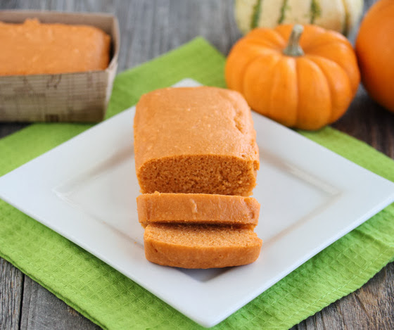 photo of a Pumpkin Cake on a white plate
