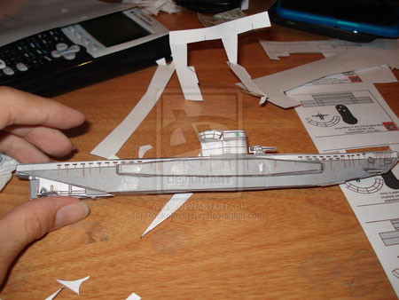 German Type VII Submarine Papercraft VIIC Uboat