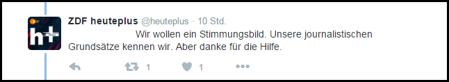 ZDFheuteplus Standartantwort