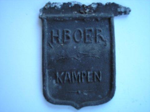 Naam: H. BoerPlaats: KampenJaartal: 1900Vindplaats: Doopsgezinde kerk Deventer