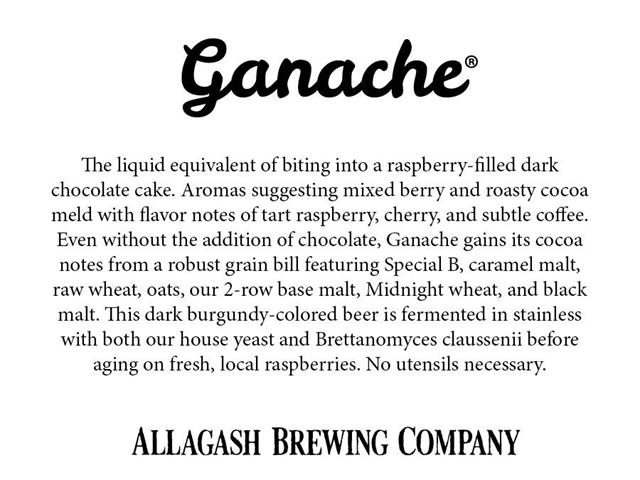 Allagash Ganache Dark Ale Returns For 2018