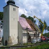 Rekonštrukcia strechy kostola v Krížovej Vsi