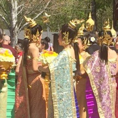 Our Weekend in Pictures April 8th and 9th The Daily April N Ava Decatur Georgia Thailand New year Wat Buddha Bucha
